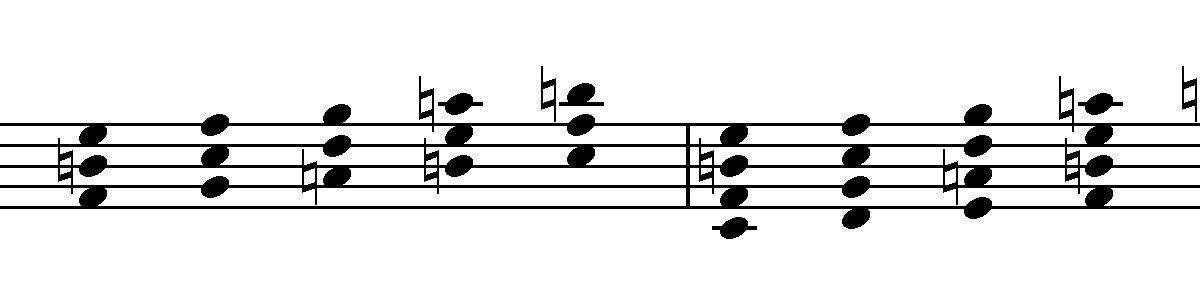 minore armonica quartali